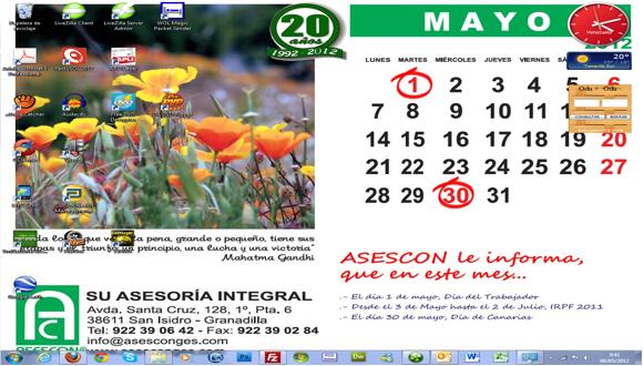 Fondo de Escritorio (Wallpaper) Mayo 2012